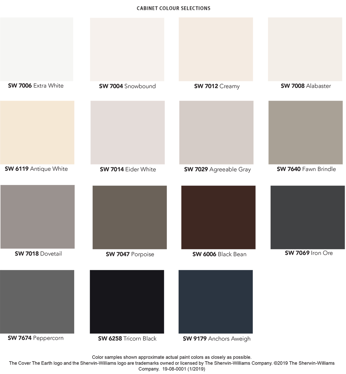 Cabinet Colour Selection